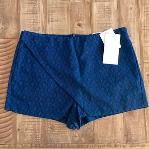 Zara Z1975 Basic denim couture skort size small